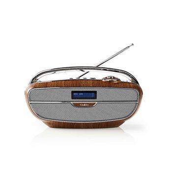 Nedis Radio 60W Braun/Silber DAB+