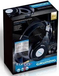 EDCO Grundig Kopfhörer Stereo Gold 5,4m Kabel