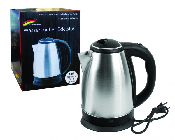 Rox Wasserkocher 1,8l Edelstahl